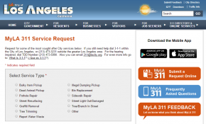 MyLA 311 Service Request City of Los Angeles