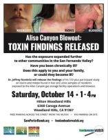 Aliso Canyon Health Study Town Hall flyer 2017.10.14