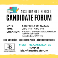 LAUSD BD3 Candidate Forum Instagram