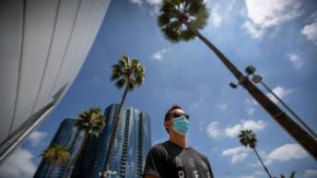 Coronavirus outbreak, Los Angeles, USA – 18 Jun 2020