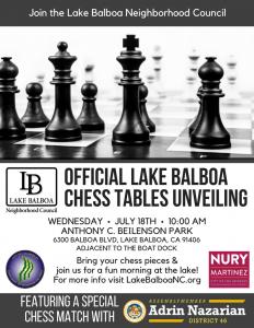 LBNC Chess Tables Unveiling